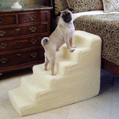 Pet Stairs Petstairz 6 Step High Density Foam Pet Step And Pet Stair With  Beige Removable