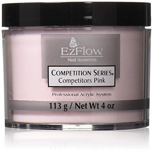 EZ Flow Competition Series Powder Competitors Pink False Nails, 4 - Acrylic Powder Ezflow