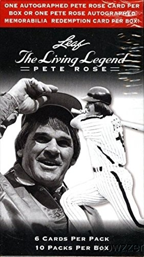 2012 Leaf Pete Rose The Living Legend Factory Sealed Box with 10 Packs and Authentic Pete Rose Autograph Card