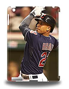 Ipad Air Hard Back With Bumper Silicone Gel Tpu 3D PC Case Cover MLB Cleveland Indians Michael Brantley #4 ( Custom Picture iPhone 6, iPhone 6 PLUS, iPhone 5, iPhone 5S, iPhone 5C, iPhone 4, iPhone 4S,Galaxy S6,Galaxy S5,Galaxy S4,Galaxy S3,Note 3,iPad Mini-Mini 2,iPad Air )