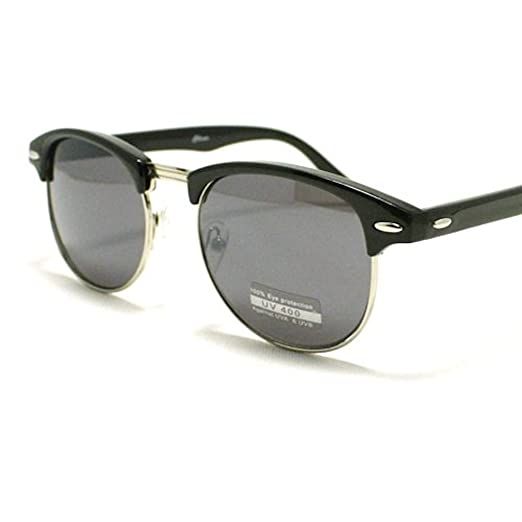 bc5b0496af Image Unavailable. Image not available for. Color  Clubmaster Half Rim  Sunglasses  Black