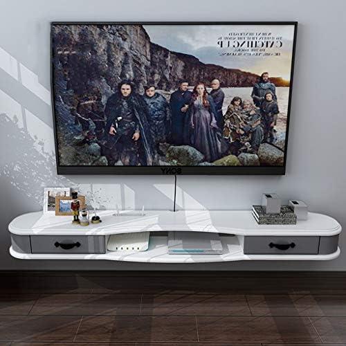 ウォールシェルフフローティングシェルフ壁掛けテレビキャビネット収納棚付き引き出し背景壁用装飾棚DVDセットトップボックスWiFiルーター (色 : B, サイズ さいず : 120CM)