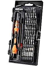 Feinmechaniker Schraubendrehersatz, CREMAX Magnetisches Schraubendreher Kit, 62 in 1 mit 56 Bits Präzisions Schraubenzieher Kit, Flexibler Schaft, für Smartphone/Spielkonsole/Tablet/PC