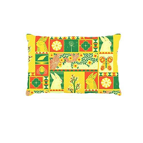 Kess InHouse Tobe Fonseca Spring  Fleece Dog Bed, 50 by 60 , Yellow Seasonal