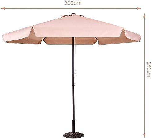 KIFOGAR Sombrilla Grande para Terraza Jardin - Parasol para Patio y Piscina, Sombrilla de Playa con Tela Resistente a los Rayos UV y a la Lluvia, Quitasol para Hostelería, Restaurantes y Bares -