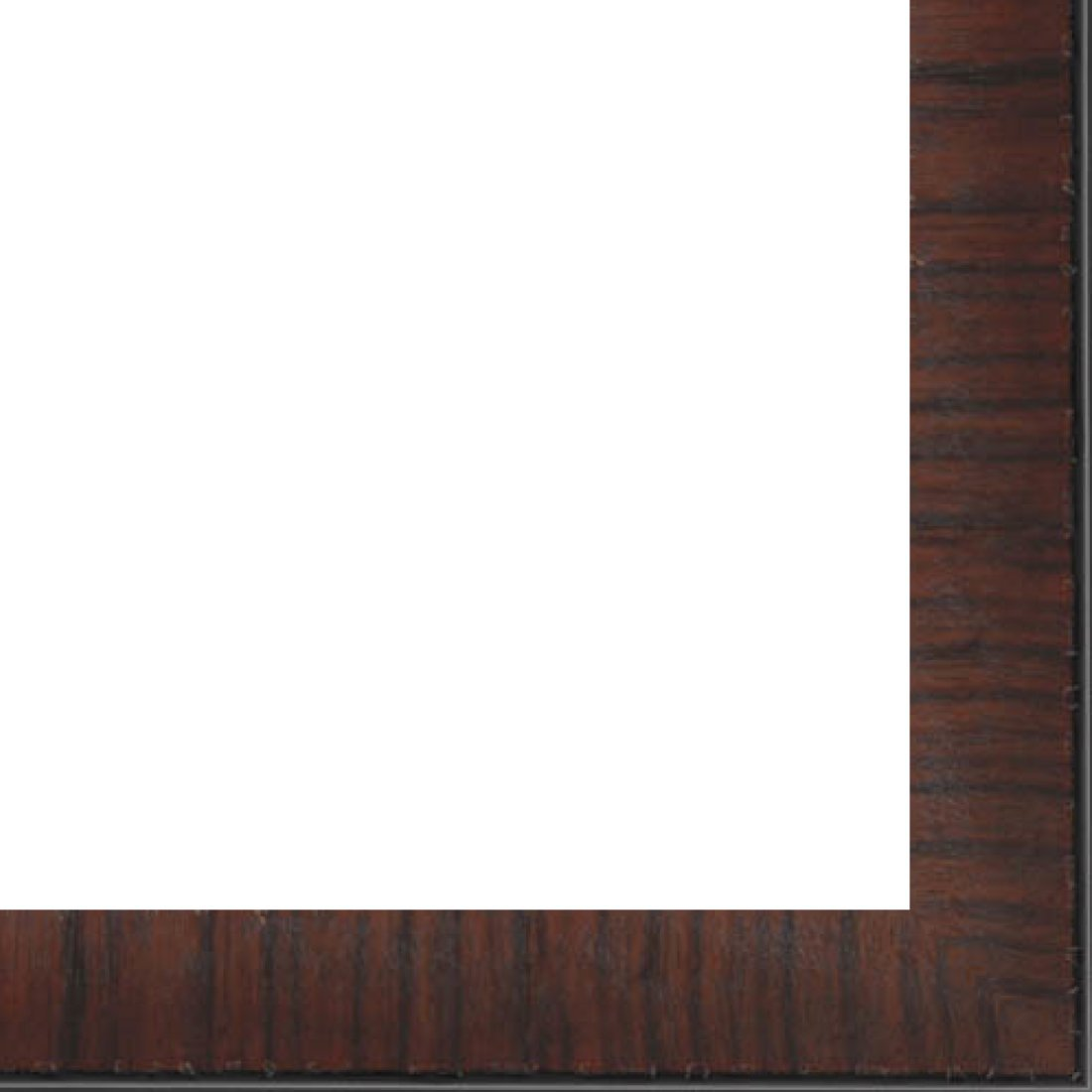 Picture Frame Moulding (Wood) 18ft bundle - Contemporary Mahogany Finish - 1.25'' width - 3/8'' rabbet depth