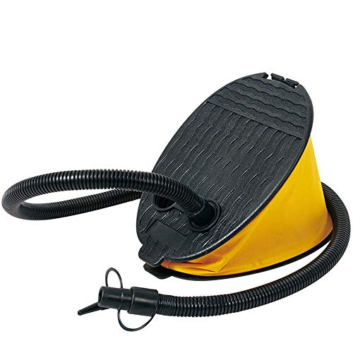 WJQ Portable Foot Pump - Powerful Bellows Pumps, Durable and Leakproof Easy to Carry - Ideal for Outdoor Camping Hiking Activities / 2000CC Yellow