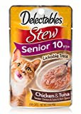 Delectables Stew Lickable Treat for Senior 10+ Years - Pack of 12
