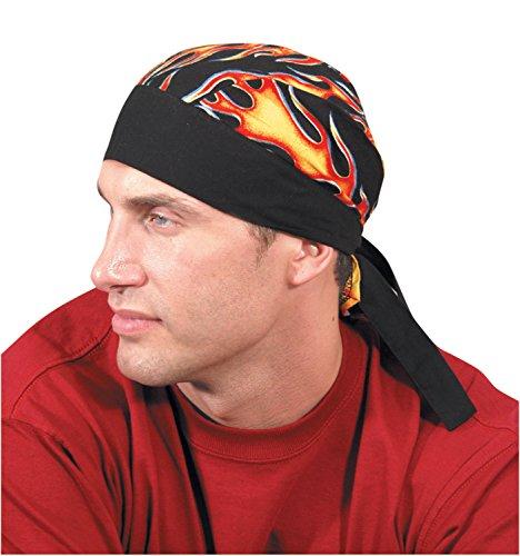 ff Nougies Tie Hat Doo Rag, Big Flames (Tuff Nougies Doo Rag)
