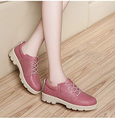 48 Fuweiencore color Viento Wind British College Rose Oxford Shoes De Bullock Tamaño Rose Zapatos 7g7xZR