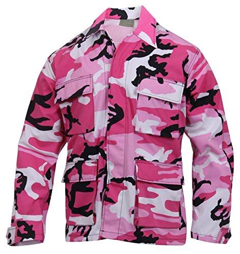 Rothco Color BDU Shirt, Pink Camo, -