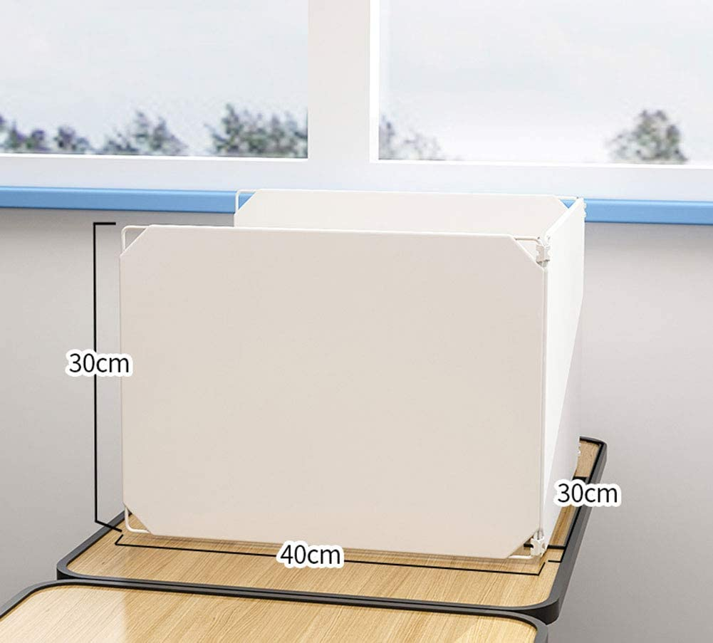 30 cm DIY Creative Assembly Protective Partition for The Partition Screen of The School Office Desk Transparent Protective Divider at The Reception Counter,A,30 YZT QUEEN Sneeze Guard 40