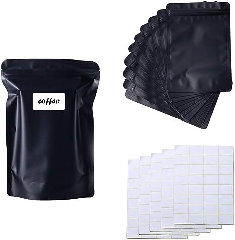 100 Smell Proof Mylar Food Bags 3X4 Zip Seal Black Matte Heat Sealable Baggies
