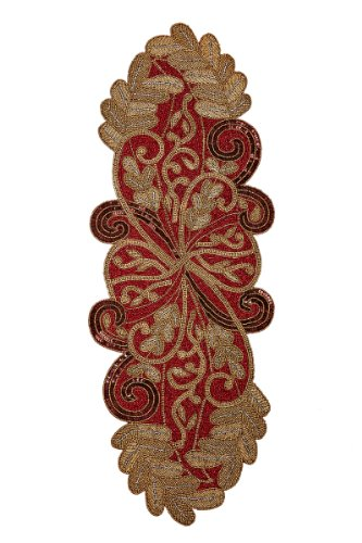 Cotton Craft Scrolling Burgundy Gold complement product image