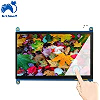 Juvtmall HDMI Display Monitor 7 Inch 1024x600 HD Touch screen TFT LCD Model with Touch Function for Raspberry Pi B+/2B Raspberry Pi 3,Banana Pi/Pro,Beagle Bone Windows 7/8/10 …