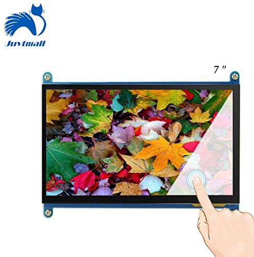 Juvtmall HDMI Display Monitor 7 inch 1024x600 HD Touch Screen TFT LCD Model with Touch Function for Raspberry Pi B+/2B Raspberry Pi 3,Banana Pi/Pro,Beagle Bone Windows 7/8/10 … by Juvtmall