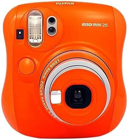 Oferta amazon: Fujifilm Instax Mini 25 - Cámara analógica instantánea (Flash electrónico automático, tamaño de Foto 62 x 46 mm), Naranja