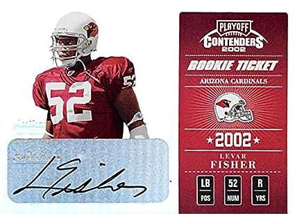 new concept 795cc 0da46 Levar Fisher autographed Football Card (Arizona Cardinals ...