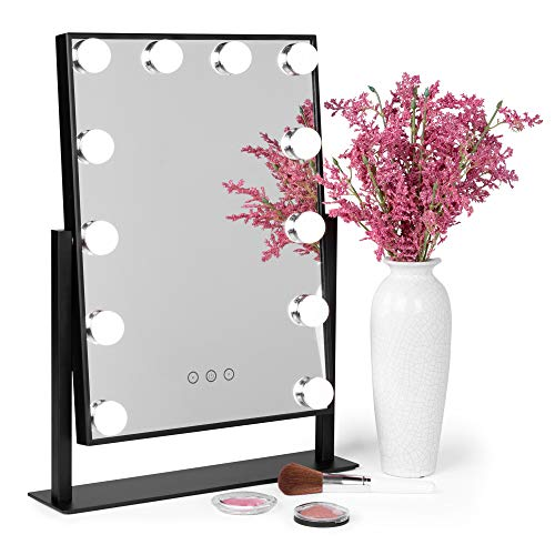 Best Choice Products Smart Touch Lighted Tabletop Hollywood Vanity Mirror Accent Décor - Custom Lights With Mirrors Bathroom