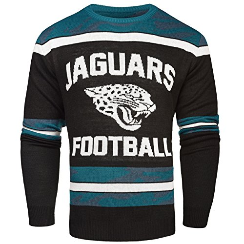 FOCO Jacksonville Jaguars Ugly Glow In The Dark Sweater - Mens - Mens Extra Large by FOCO