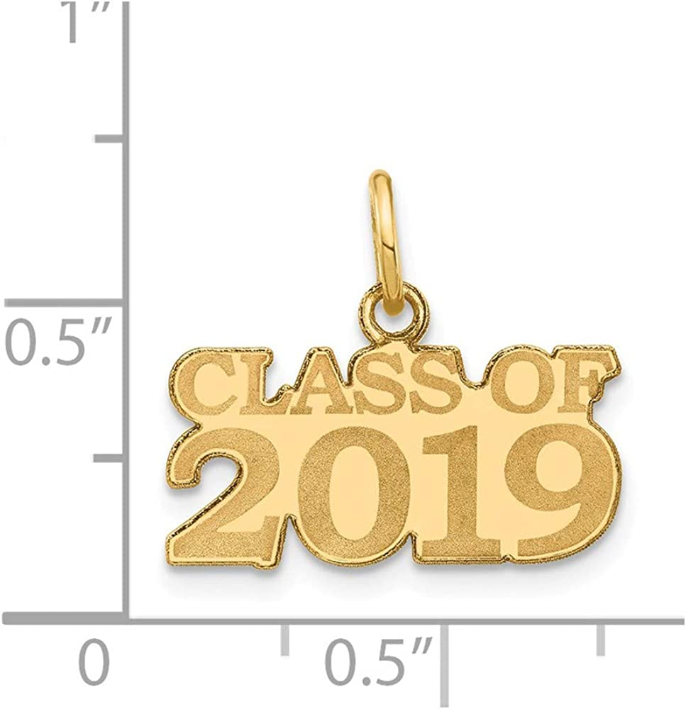 14k Yellow Gold Class Of 2019 Pendant Charm Necklace Graduation Fine Jewelry Gifts For Women For Her