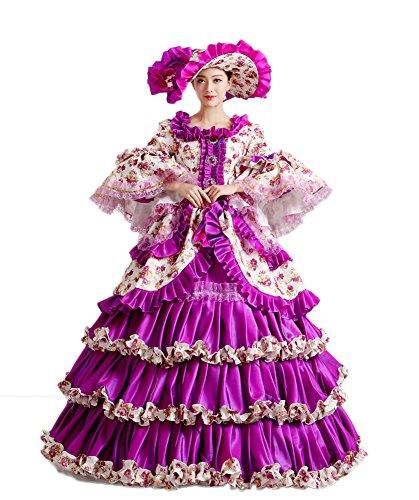 Zukzi Women's Prom Gothic Victorian Fancy Palace Masquerade Dresses, H01 US 18 by Zukzi