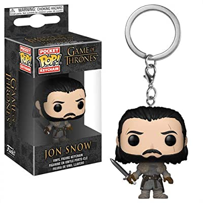 Funko Pop Keychain: Game of Thrones - Jon Snow (Beyond The Wall) Collectible Figure, Multicolor: Toys & Games