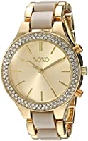 XOXO Women's Quartz Metal and Alloy Casual Watch, Color:Two Tone (Model: XO285)