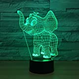 GTY TOEWR 3d Light, Colorful Remote Control Touch Led Light Creative Products Gift Night Light Usb Interface-Touch + Remote