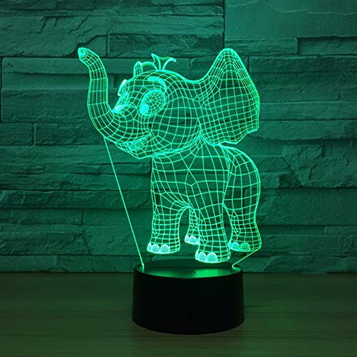 GTY TOEWR 3d Light, Colorful Remote Control Touch Led Light Creative Products Gift Night Light Usb Interface-Touch + Remote by GTY TOEWR
