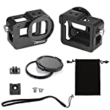 Luxebell C400 Aluminium Alloy Skeleton Thick Solid Protective Case Shell with 52mm Uv Filter for Gopro Hero 6 5 Camera - Wide Angle Mode Have No Vignetting