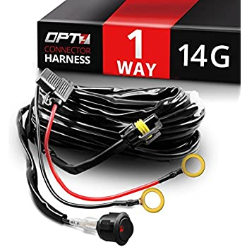 5184%2B7 pzlL._SL500_AC_SS350_ amazon com mictuning hd 300w led light bar wiring harness fuse 40 Wire Harness Clips at gsmportal.co
