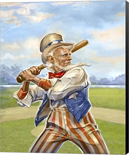 Great Art Now Uncle Sam by Rob Johnson Canvas Art Wall Picture,