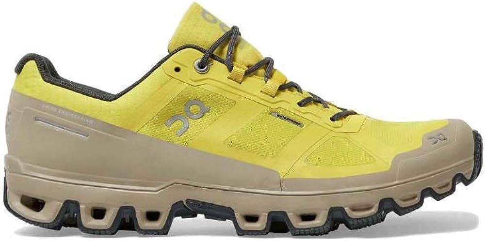 Mustard//Shadow On Running Mens Cloudventure Waterproof Trail Running Shoes