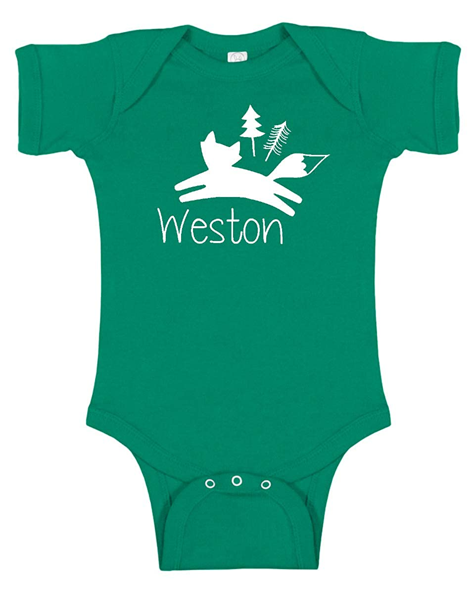 Personalized Wild Fox Baby Romper and Bodysuit for Boys and Girls