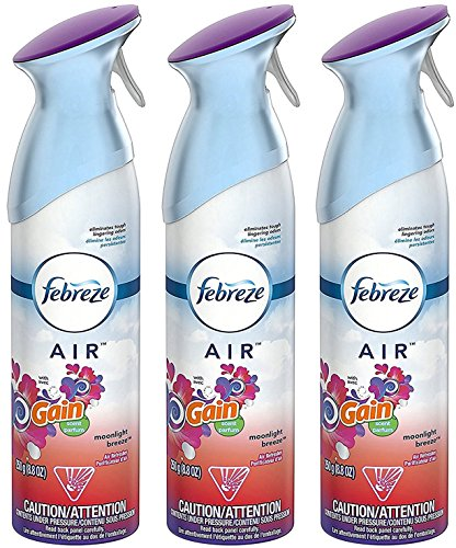 Febreze Air Freshener Spray - Gain Moonlight Breeze - Net Wt. 8.8 OZ (250 g) Per Bottle - Pack of 3 Bottles