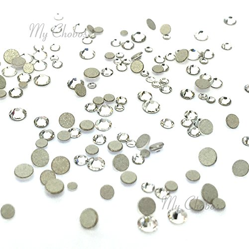 Tiny small sizes mixed with Swarovski 2058 Xilion Rose flatbacks sizes ss3, ss5, ss6, ss7, ss9, ss10 No-Hotfix rhinestones nail art 144 pcs (1 gross) *FREE Shipping from Mychobos (Crystal-Wholesale)* (Fix Swarovski Flat Back Crystal)