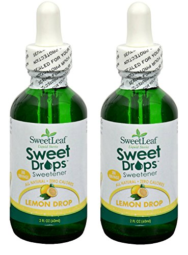 SweetLeaf Lemon Drop Sweet Drops Liquid Stevia (Pack of 2) with Organic Stevia Leaf Extract and Lemon Oil, 2 oz.