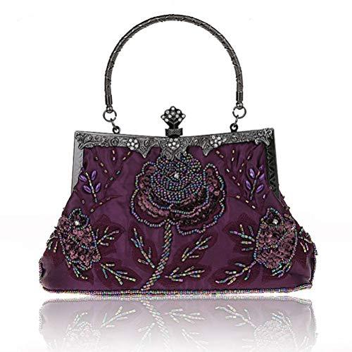Sac Élégantes Gshe Mariage Soirée Sac À Embrayages Sac Cheongsam Femmes Bag purple Pochette Femmes De Main Soirée pour Vintage wqPCrw6