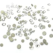 CRYSTAL (001) clear Tiny small sizes mixed with Swarovski 2058 Xilion Rose flatbacks sizes ss3, ss5, ss6, ss7, ss9, ss10 No-Hotfix rhinestones nail art 144 pcs (1 gross) *FREE Shipping from Mychobos (Crystal-Wholesale)*