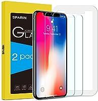 [2-Pack] Protector Pantalla iPhone XS/X, SPARIN Cristal Templado iPhone XS/X, Vidrio Templado Protector de Pantalla con [2.5d Borde redondo] [9H Dureza] [Alta Definicion] para iPhone XS/X