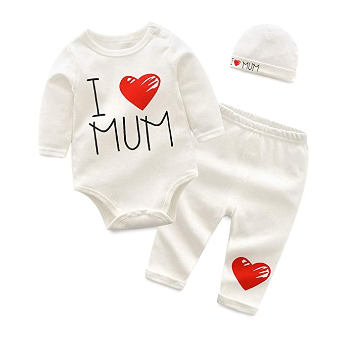 0855068e6 Fairy Baby Infant 3pc Baby Mother's Day Outfit Set Cotton Sleeper Pajamas  Bodysuit+Pant+