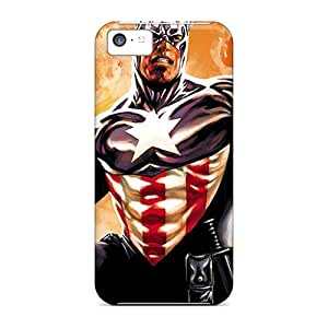 5c Scratch-proof Protection Case Cover For Iphone/ Hot Captain America I4 Phone Case