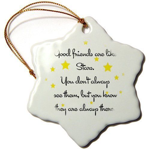 pansy Funny Christmas Snowflake Ornaments Good Friends Are Like Stars Holiday Xmas Tree Hanging Ornaments Decoration Gifts