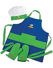 Curious Chef Child Chef Textile Set, 4-Piece