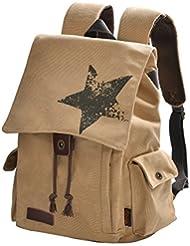 Epokris Vintage Rucksack Book Bag Canvas Laptop School Backpack for Teens 121