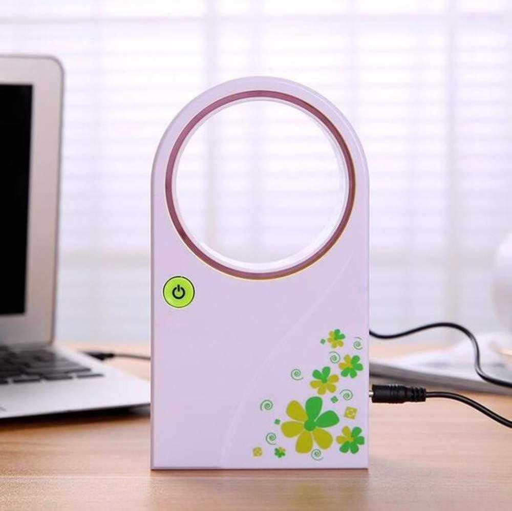 Keeping A Desktop Fan in The Car,Green USB Battery Cooling Device for Dual Purpose Fan WYFDM Leafless Fan