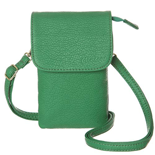 - MINICAT Roomy Pockets Series Small Crossbody Bags Cell Phone Purse Wallet For Women(Grass Green)