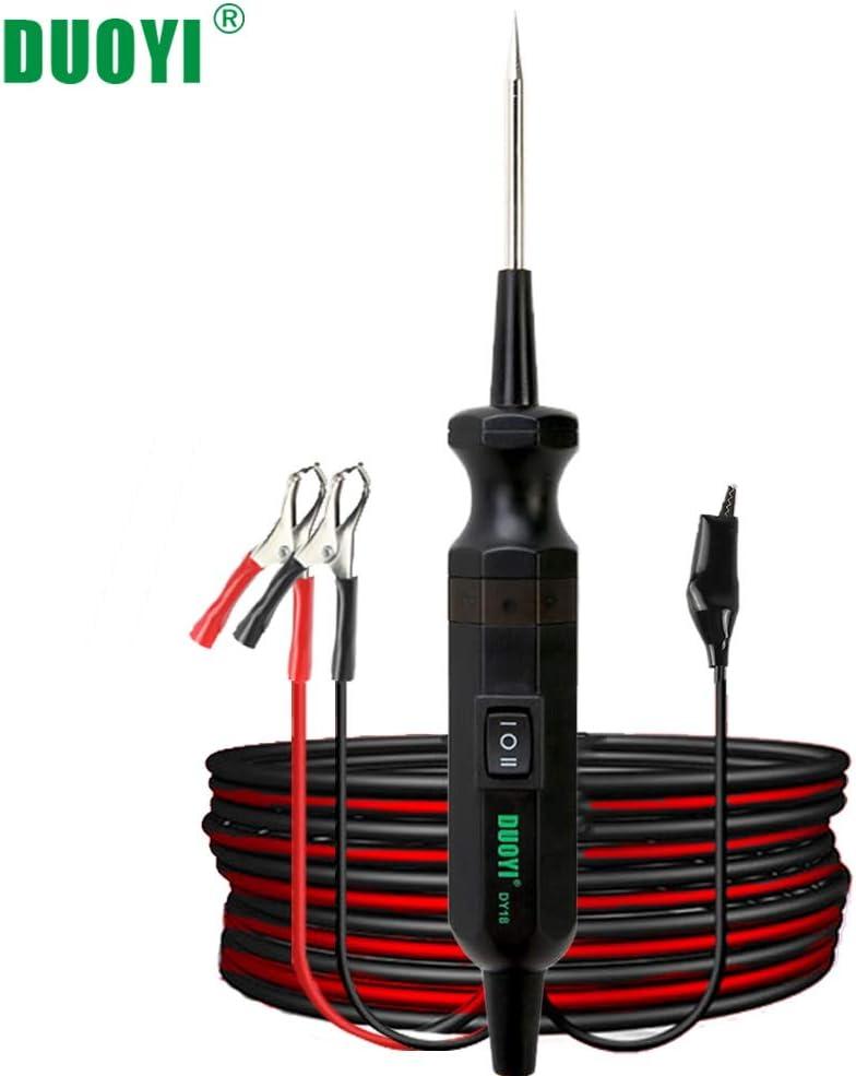 Stylo de test de tension de voiture BiuZi Auto 6V 12V 24V CC testeur de circuit de fil de voiture /électrique Test de voiture VoltMet longue sonde stylo ampoule