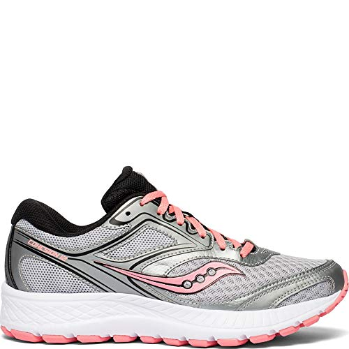 Saucony Women's VERSAFOAM Cohesion 12 Road Running Shoe, Silver/Pink, 9 M US (Best Womens Running Shoes Under 100)